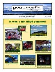 It was a fun filled summer! - Polson Motorcoach & RV Resort