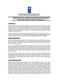PROGRAM BANTUAN PEMULIHAN AWAL (ERA) UNTUK ... - UNDP