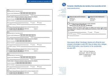 """Formulaire """"Identification des membres d'une association"""" - Favv"""