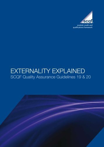 Externality Explained - Scottish Credit and Qualifications Framework