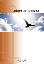 Verksamhetsberättelse 2007 - Fonus