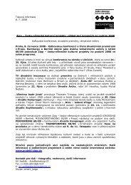 Tisková informace 8. 7. 2008 Zipp – česko-německé kulturní projekty ...