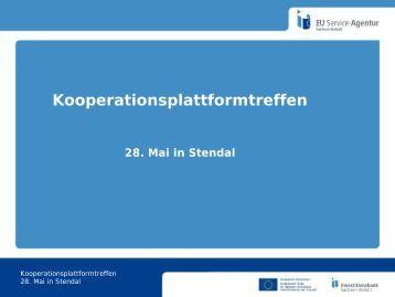Kooperationsplattformtreffen - EU Service-Agentur