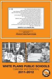 District Calendar (PDF) - White Plains Public Schools