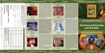 Seminare und Vorträge auf CD & DVD Themen ...www.homsym.de