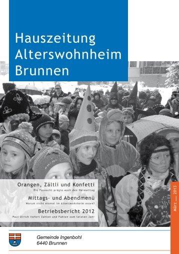 Hauszeitung Ausgabe Nr. 76 vom März 2013 - Brunnen