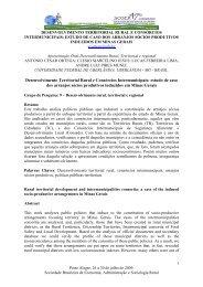 Desenvolvimento Territorial Rural e Consórcios ... - SOBER