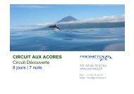 CIRCUIT AUX ACORES Circuit Découverte - Prometour
