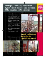 CageX® Ladder Cage Extension Net System from InCord