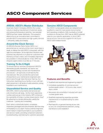 ASCO Component Services - AREVA NP Inc.