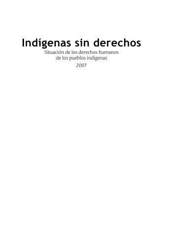 Indígenas sin derechos - Observatorio Étnico Cecoin