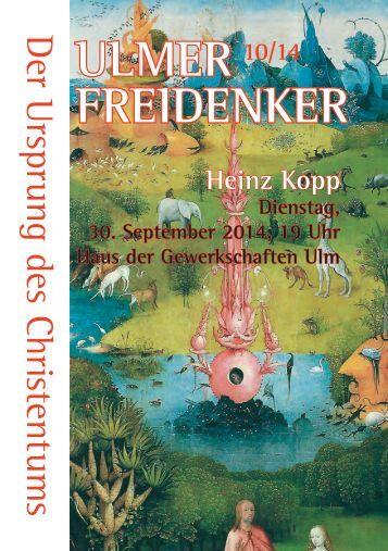ULMER - Freidenkerinnen und Freidenker Ulm/Neu-Ulm eV