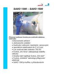 SAXO 1300,1500.DOC - OMNITECH spol. s r.o.
