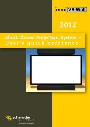 Short Throw Projection System – User's quick ... - Schneider Digital