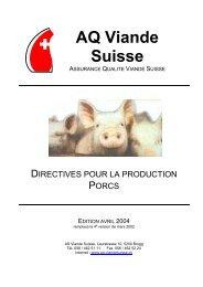 Directives pour la production porcs - Suisseporcs