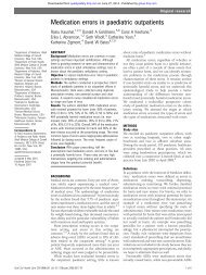Medication errors in paediatric outpatients - BMJ Quality and Safety