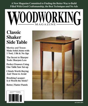 Classic Shaker Side Table - Popular Woodworking Magazine