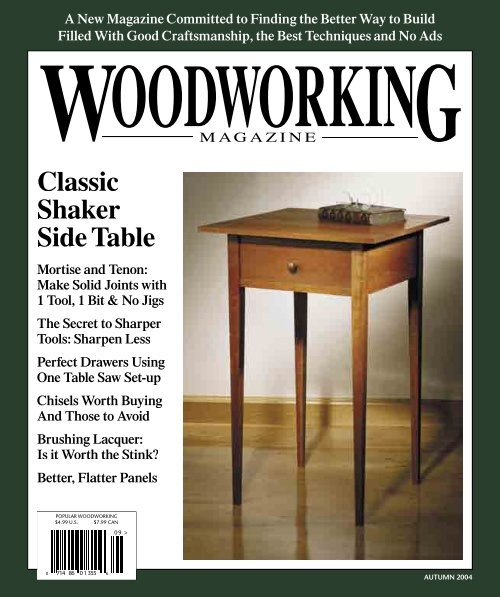 Classic Shaker Side Table Popular Woodworking Magazine