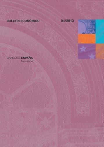 Boletín Económico. Abril 2013 - Expansión