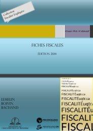 Fiches fiscales - Université du Québec