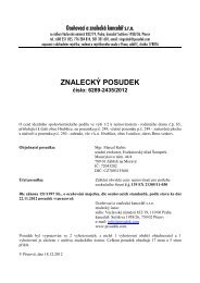 ZNALECKÝ POSUDEK číslo: 6289-2435/2012 - e-aukce