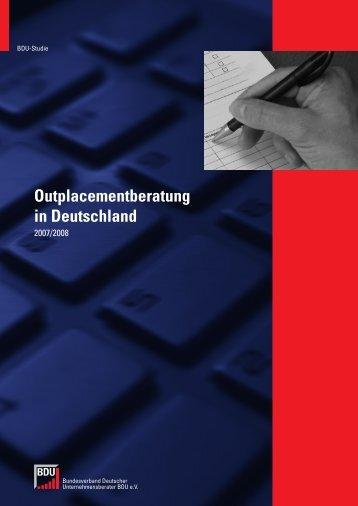 Outplacementberatung in Deutschland 2007/2008