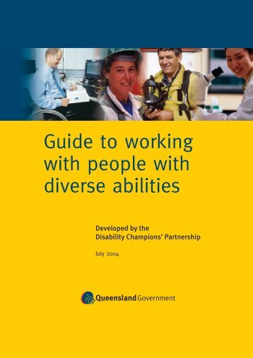 Guide to working with people with diverse abilities - Public Service ...