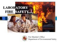 LABORATORY. FIRE SAFETY - University of Maryland - Department ...