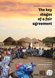 The key stages of a fair agreement - ENDA Énergie- Environnement ...