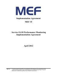 Implementation Agreement MEF 35 Service OAM Performance Monitoring ...