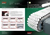 transportadores de banda articulada - easy systems