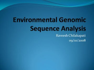 Random Community Genome Sequence Analysis