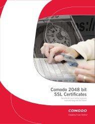 Comodo 2048 bit SSL Certificates - InCommon