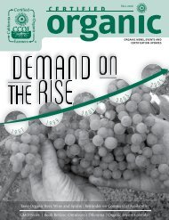 Demand on the Rise - CCOF