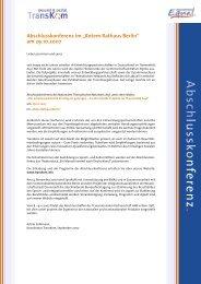 Infoblatt zur Abschlußveranstaltung - Transkom