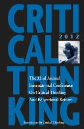 conference program final 2 quark - The Critical Thinking Community