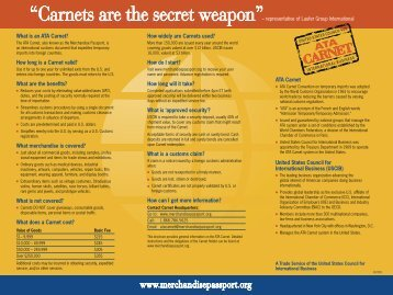 Carnets are the secret weapon - U.S. Council for International ...
