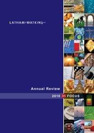 Latham & Watkins 2010 Annual Review