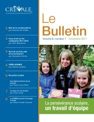 Le Bulletin - novembre 2011 - CREVALE