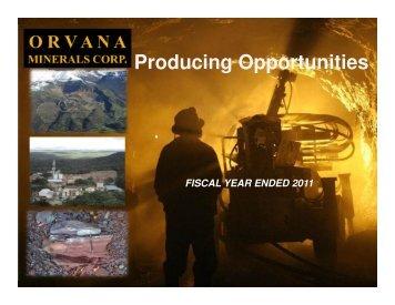 Fiscal 2011 Presentation - Orvana Minerals Corp.