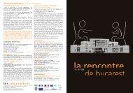 Practical Information La Rencontre de Bucarest.pdf - Documentation ...