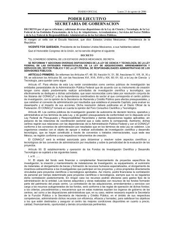 Decreto por el que se reforman y adicionan diversas disposiciones ...