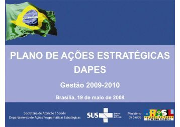 PLANO DE AÇÕES ESTRATÉGICAS DAPES