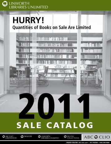 HURRY! Quantities of Books on Sale Are Limited - ABC-Clio