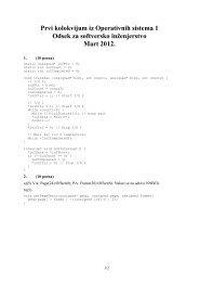 Prvi kolokvijum iz Operativnih sistema 1 Odsek za ... - os.etf.bg.ac.rs