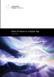 Ethics & Values in a Digital Age - Department of Communications ...