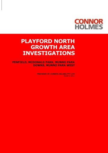 Playford North Growth Area Investigations – Penfield ... - DPTI