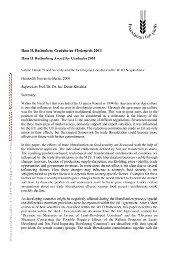 Hans H. Ruthenberg-Graduierten-Förderpreis ... - Stiftung Fiat Panis