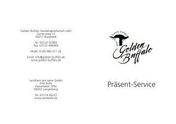 Zum Präsentkatalog - Golden Buffalo GmbH