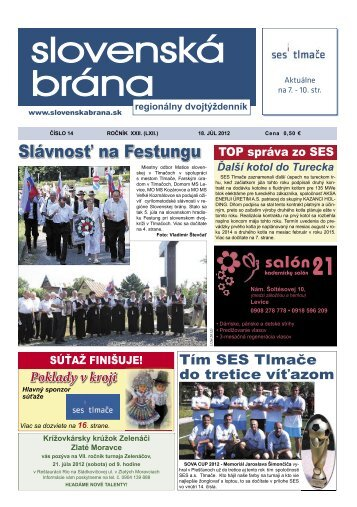 Brana 14 2012 - Slovenská brána